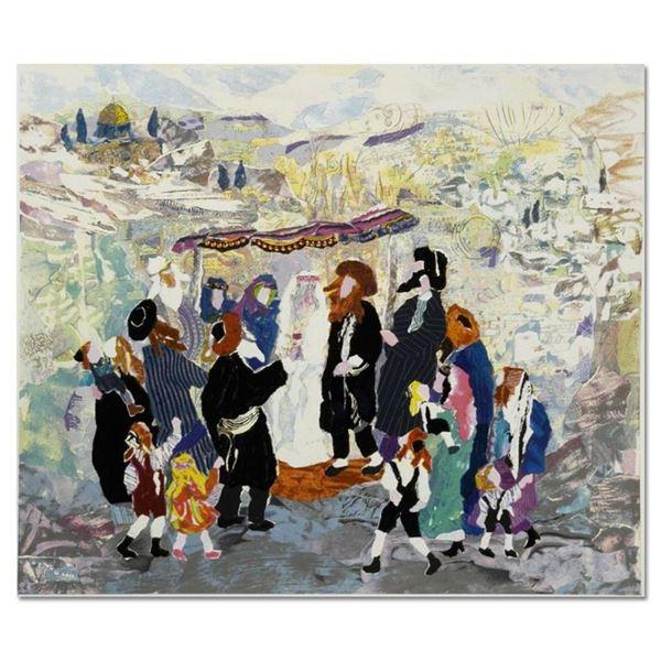 "Judith Yellin, ""Wedding in Jerusalem II"" Hand Signed Limited Edition Serigraph w"