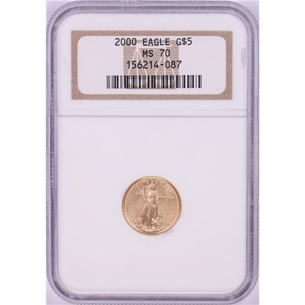 2000 $5 American Gold Eagle Coin NGC MS70
