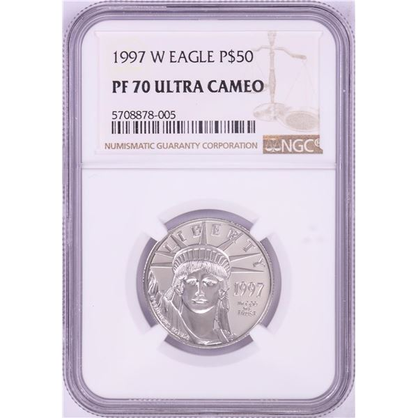1997-W $50 Proof Platinum American Eagle Coin NGC PF70 Ultra Cameo