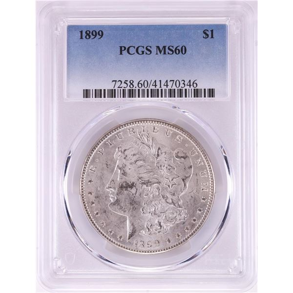 1899 $1 Morgan Silver Dollar Coin PCGS MS60