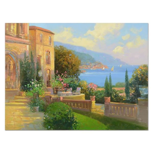 "Feng ""Majestic Riviera"" Original Oil on Canvas"