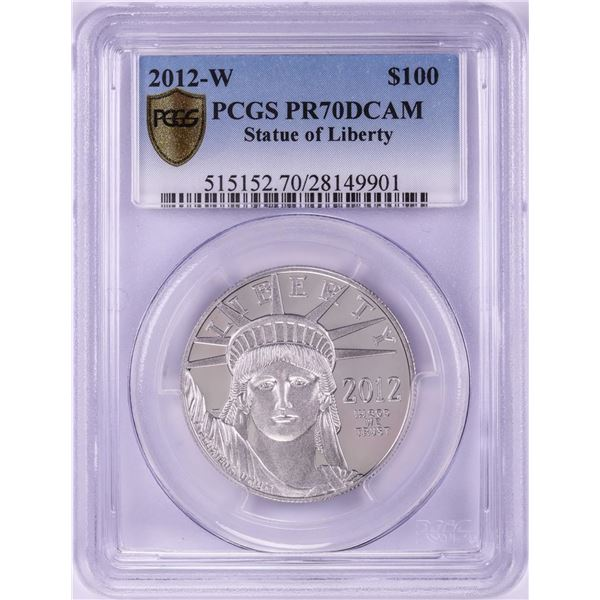 2012-W $100 Proof Platinum American Eagle Coin PCGS PR70DCAM