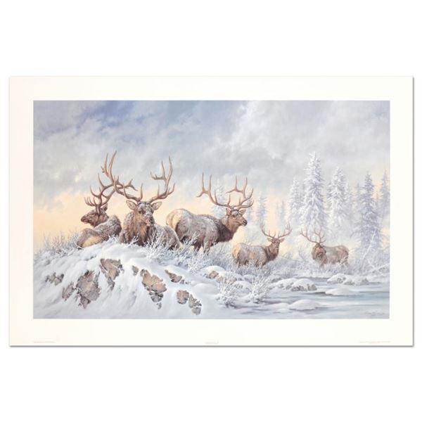 "Larry Fanning (1938-2014) ""Solstice Rendezvous - Elk"" Limited Edition Lithograph"