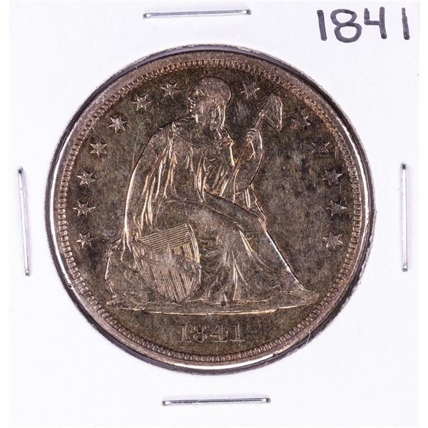 1841 $1 Seated Liberty Silver Dollar Coin