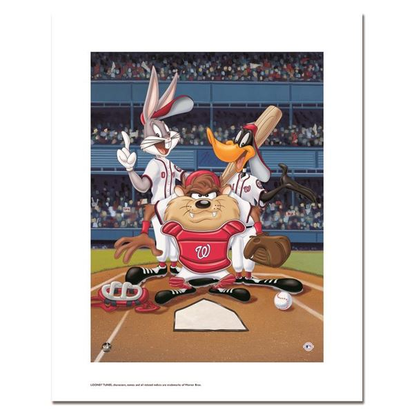 """Looney Tunes """"At the Plate (Nationals)"""" Limited Edition Giclee"""