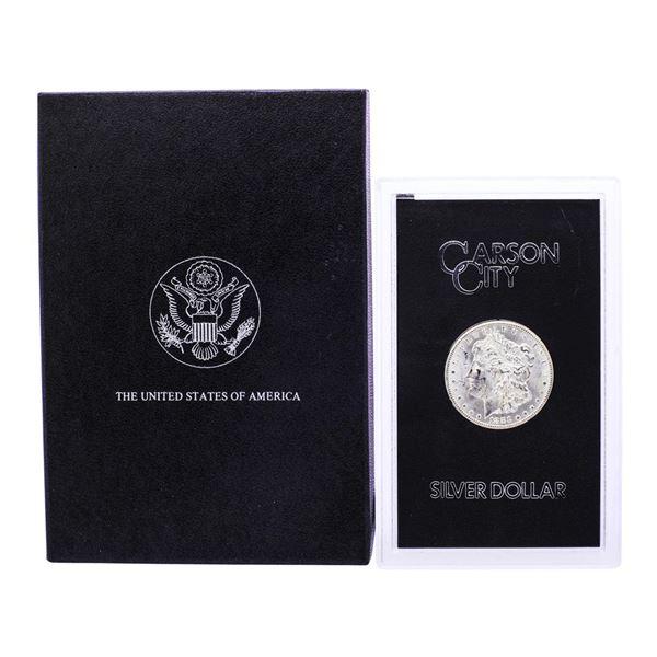 1883-CC $1 Morgan Silver Dollar Coin GSA Hoard with Box