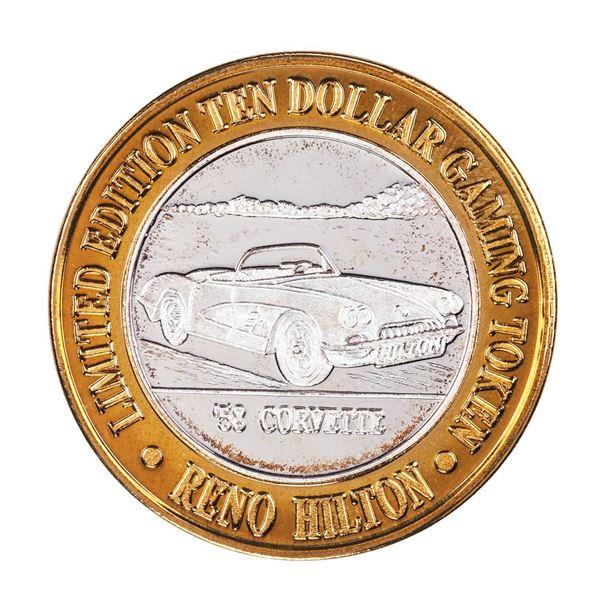 .999 Silver Hilton Reno, Nevada $10 Casino Limited Edition Gaming Token