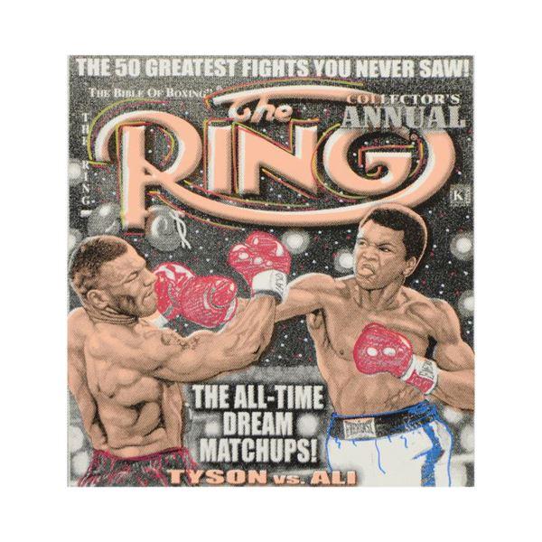 "Steve Kaufman (1960-2010) ""The Ring"" Original Mixed Media on Canvas"