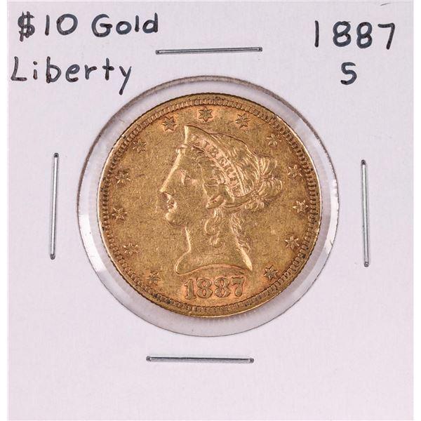 1887-S $10 Liberty Head Eagle Gold Coin