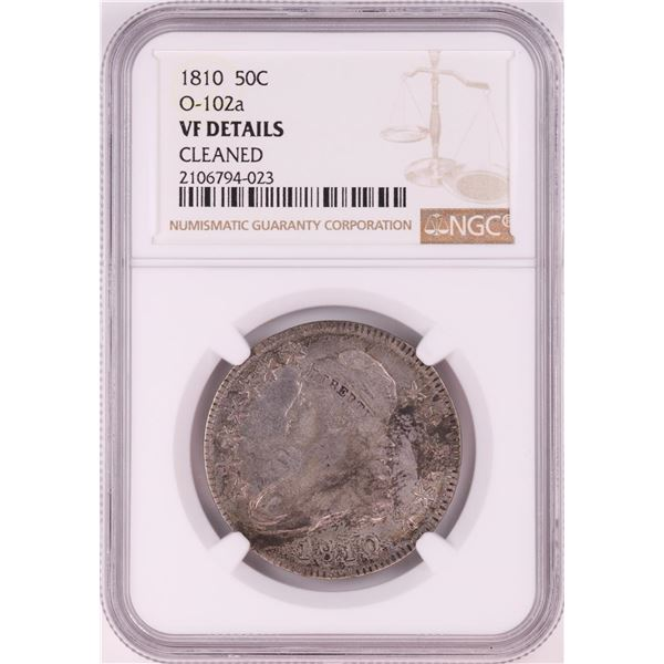 1810 Capped Bust Half Dollar Coin NGC VF Details O-102a