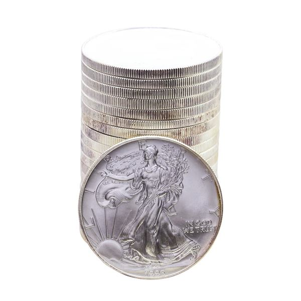 Roll of (20) Brilliant Uncirculated 1993 $1 American Silver Eagle Coins