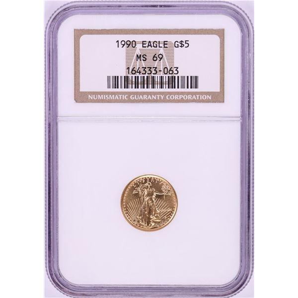 1990 $5 American Gold Eagle Coin NGC MS69