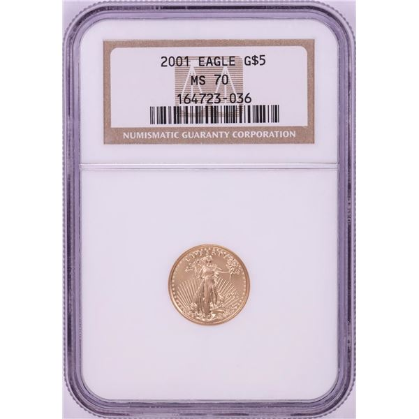 2001 $5 American Gold Eagle Coin NGC MS70