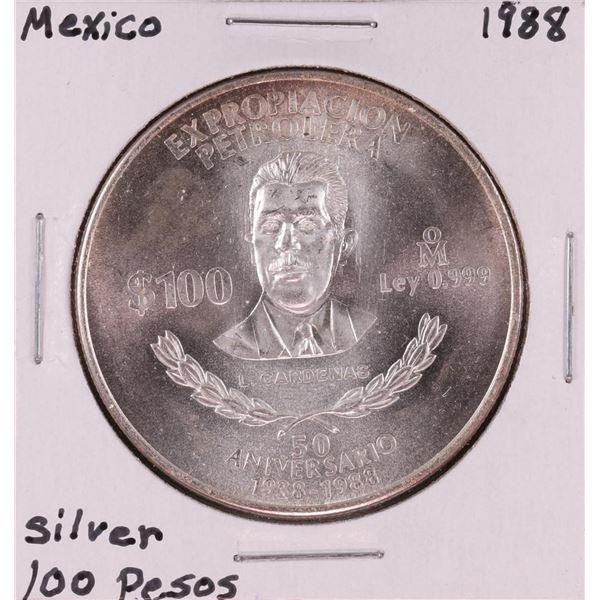 1988 Mexico 100 Pesos Silver Coin