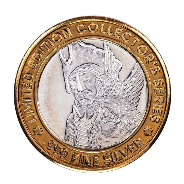 .999 Fine Silver Treasure Bay Casino Biloxi, MS $10 Limited Edition Gaming Token