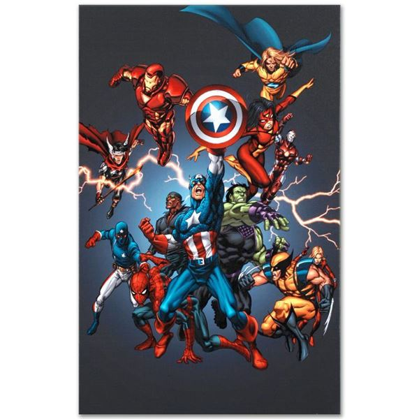 """Marvel Comics """"Official Handbook: Avengers 2005"""" Limited Edition Giclee on Canvas"""