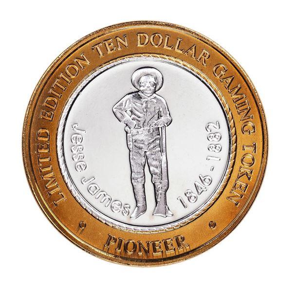 .999 Silver Pioneer Hotel & Gambling Hall $10 Casino Limited Edition Gaming Token