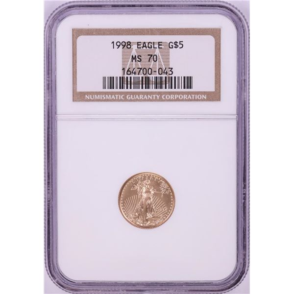 1998 $5 American Gold Eagle Coin NGC MS70