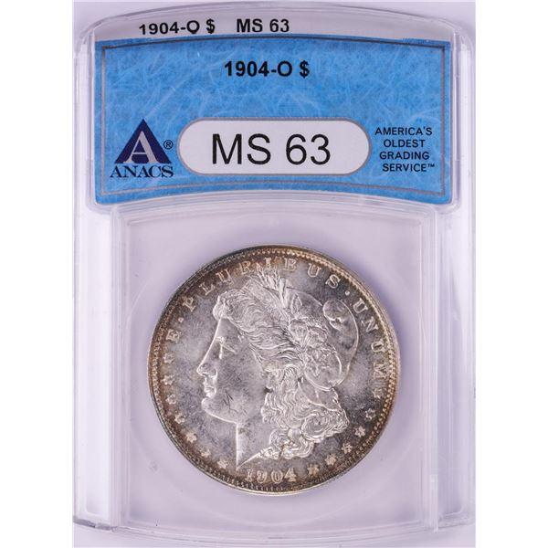 1904-O $1 Morgan Silver Dollar Coin ANACS MS63