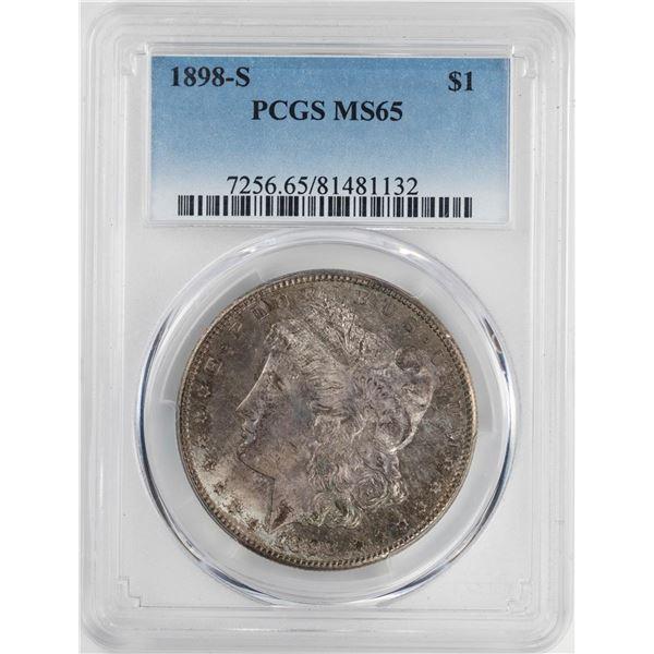 1898-S $1 Morgan Silver Dollar Coin PCGS MS65