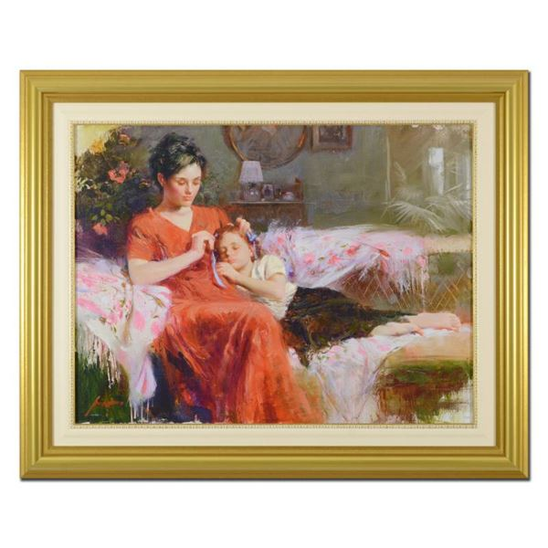 """Pino (1939-2010) """"Sweet Love"""" Limited Edition Giclee On Canvas"""