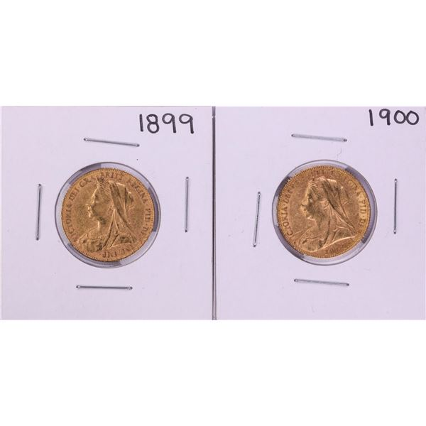 Lot of 1899-1900 Great Britain Sovereign Gold Coins