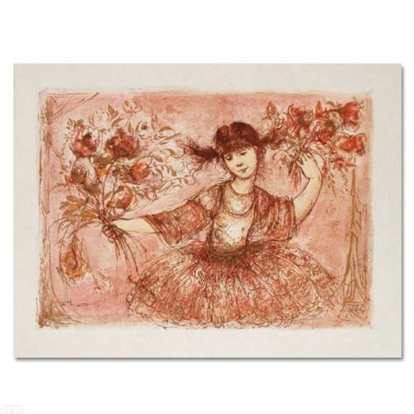 """Edna Hibel (1917-2014) """"Jennifer Mary Taking a Bow at the Bolshoi"""" Limited Edition Lithograph"""