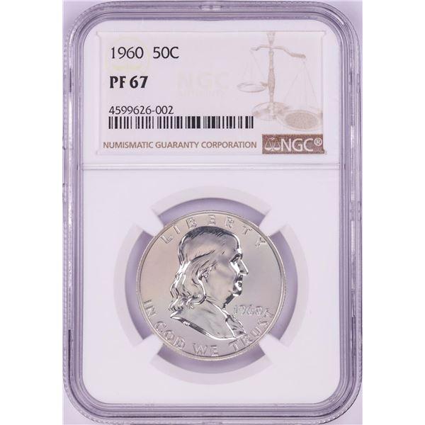 1960 Proof Franklin Half Dollar Coin NGC PF67