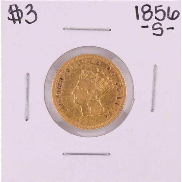 1856-S $3 Indian Princess Head Gold Coin