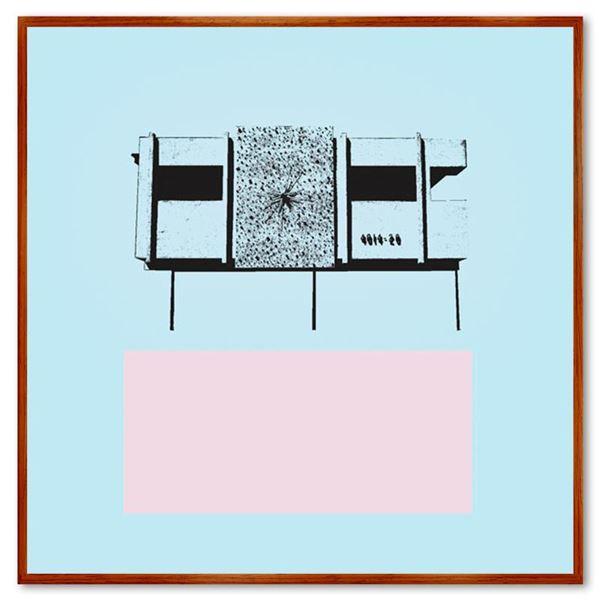 "Claudio Santini ""Dingbat 2"" Limited Edition Mixed Media on Canvas"
