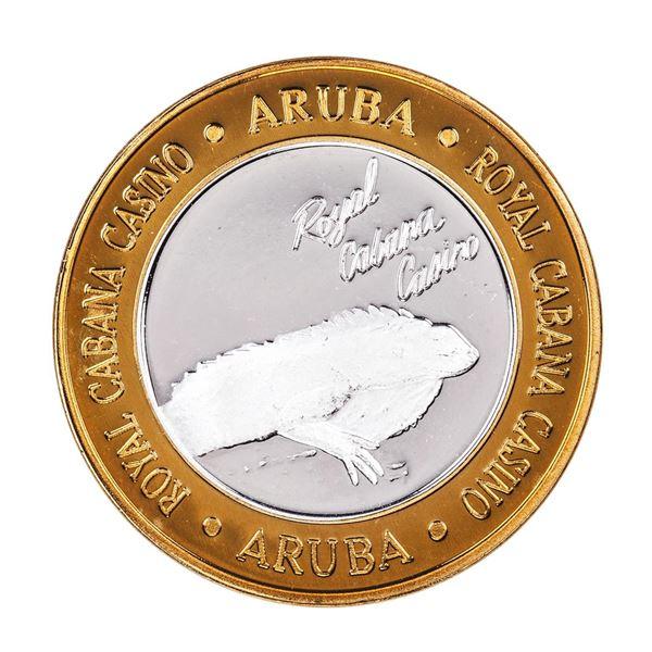 .999 Silver Royal Cabana Casino Aruba $10 Limited Edition Gaming Token