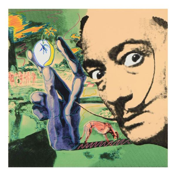 "Steve Kaufman (1960-2010) ""Dali Homage"" Original Serigraph on Canvas"