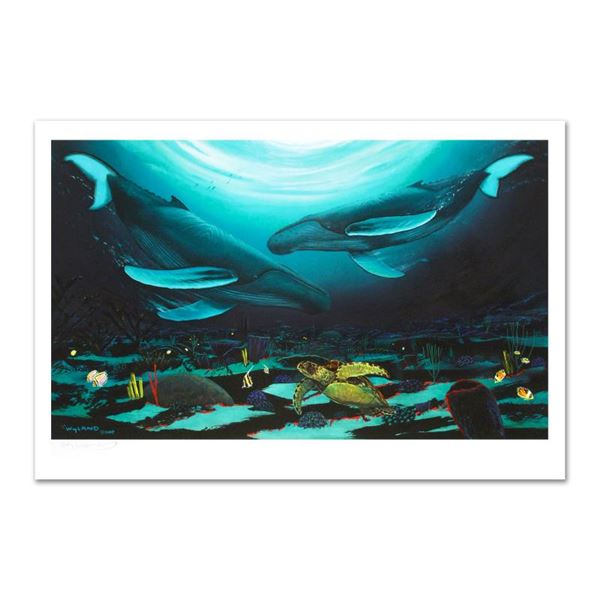 """Wyland """"Humpback Dance"""" Limited Edition Giclee on Canvas"""