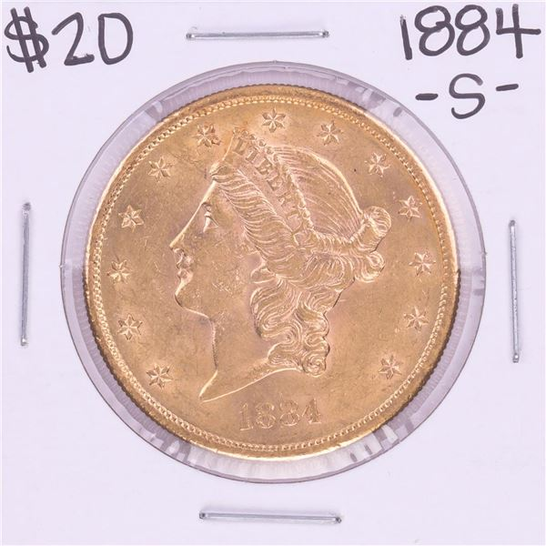 1884-S $20 Liberty Head Double Eagle Coin
