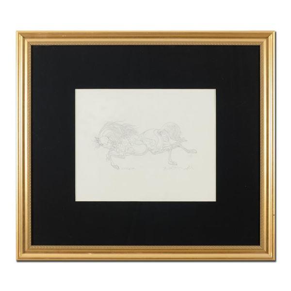 "Azoulay ""Sketch AK"" Original Pencil on Paper"
