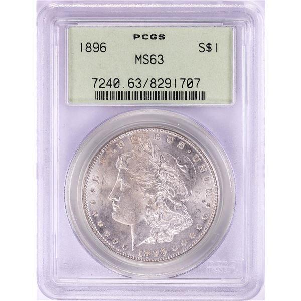 1896 $1 Morgan Silver Dollar Coin PCGS MS63 Old Green Holder