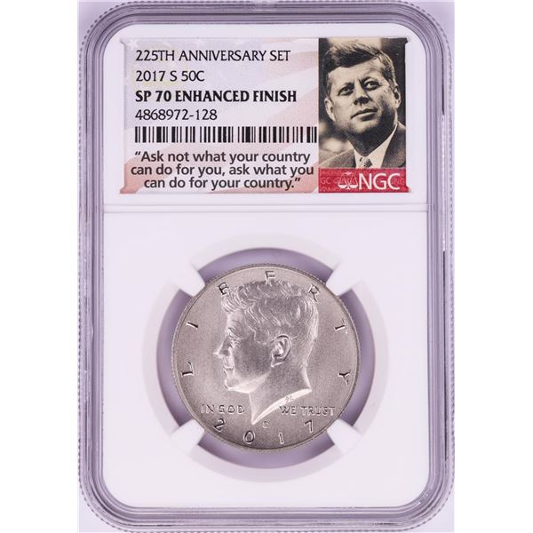 2017-S Proof Kennedy Half Dollar Coin NGC SP70 Enhanced Finish