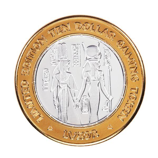 .999 Silver Luxor Las Vegas, Nevada $10 Casino Limited Edition Gaming Token