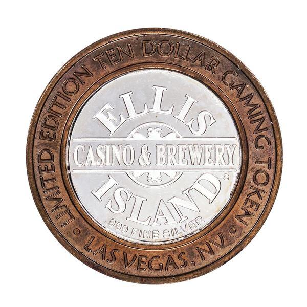 .999 Silver Ellis Island Casino & Brewery Las Vegas $10 Limited Edition Gaming Token