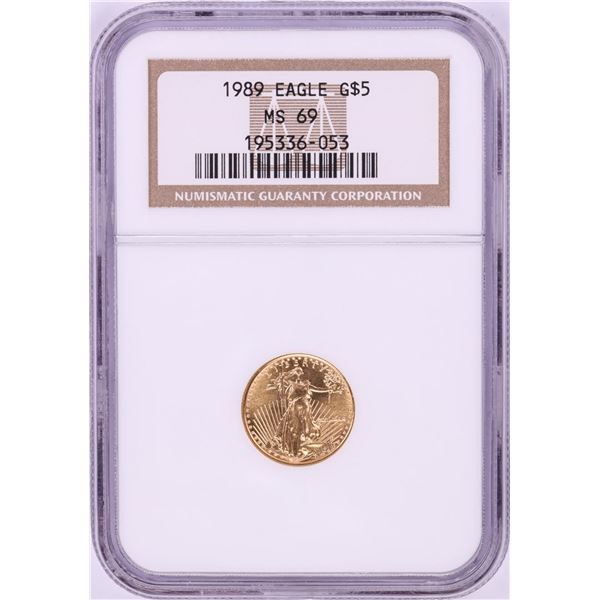 1989 $5 American Gold Eagle Coin NGC MS69