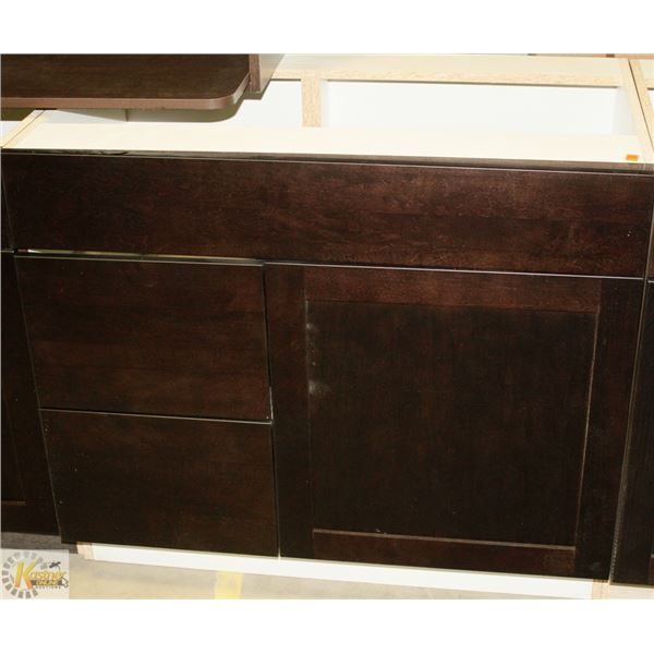 """SINK VANITY BASE CAB 36"""" WIDE WITH BANK DRWS ON"""