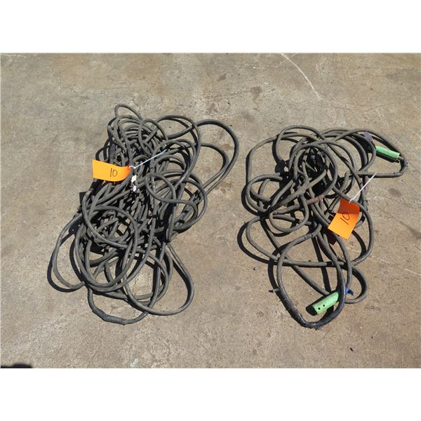 MAUI: Qty 2 Welding Lead Cables, Needs Repair (taped in various places)