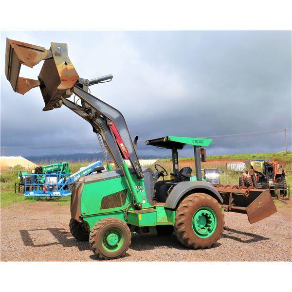 LANAI: 2014 John Deere 210KEP Landscaper Tractor Loader Starts & Runs (See Video). w/Clamshell-Type
