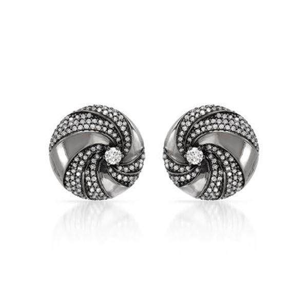 Natural 0.99 CTW Diamond Earrings 14K White Gold - REF-104T4X