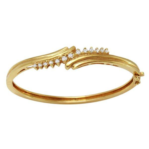 Natural 0.54 CTW Diamond Bracelet 14K Yellow Gold - REF-160W2H