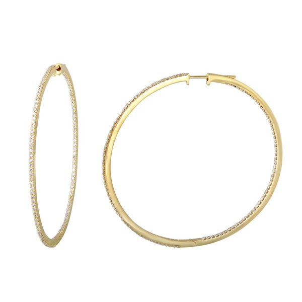 Natural 1.81 CTW Diamond Earrings 14K Yellow Gold - REF-189N9Y