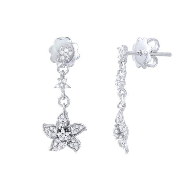 Natural 0.25 CTW Diamond Earrings 14K White Gold - REF-31W5H