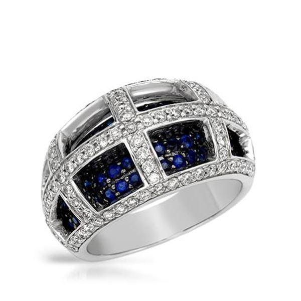 Natural 2.11 CTW Tsavorite & Diamond Ring 14K White Gold - REF-132N3Y