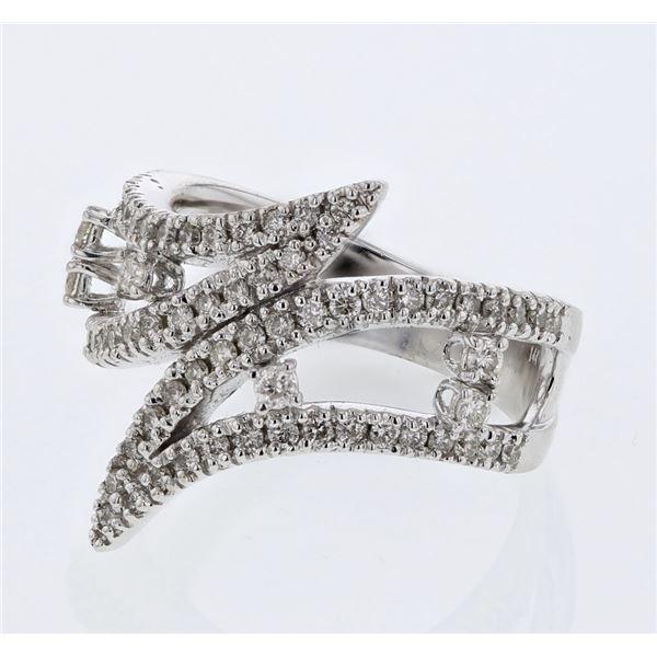 Natural 0.73 CTW Diamond Ring W=20MM 18K Gold - REF-153K9R