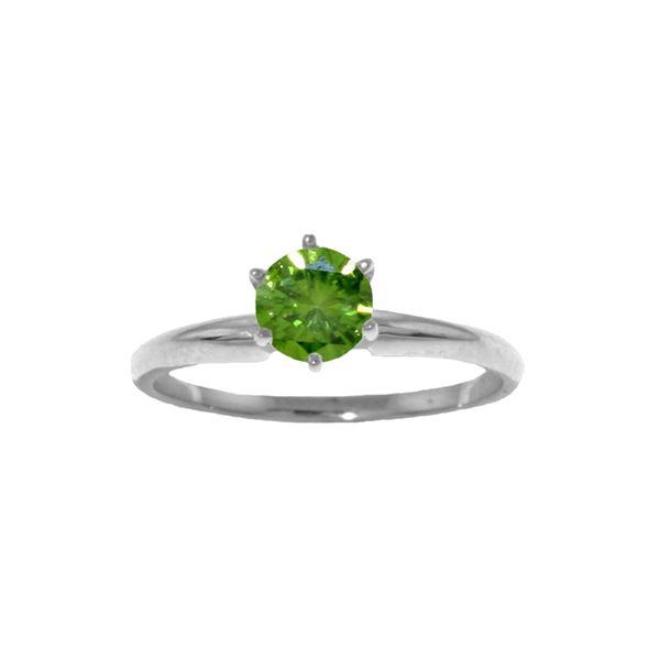 Genuine 0.50 ctw Diamond Anniversary Ring 14KT White Gold - REF-132N9R